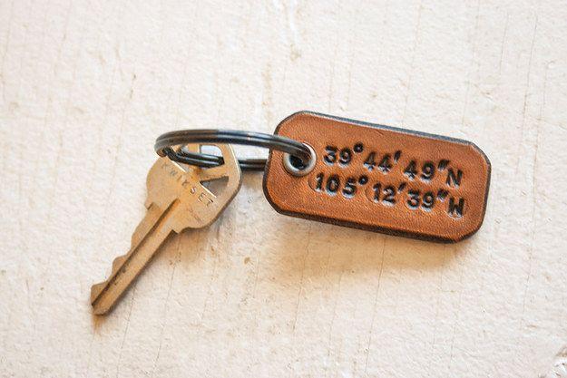 Longitude e latitude Keychain