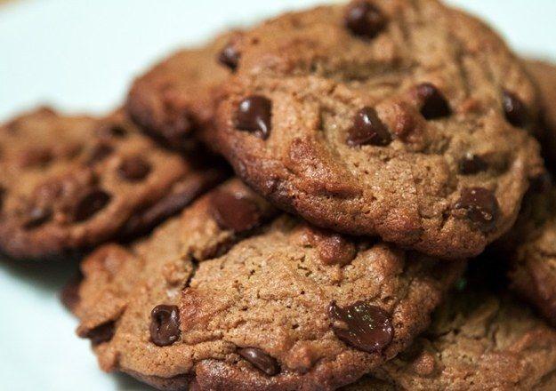 Flourless manteiga de amendoim Chocolate Chip Cookies