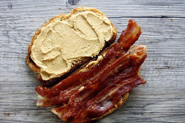 Manteiga de amendoim Bacon Sandwich