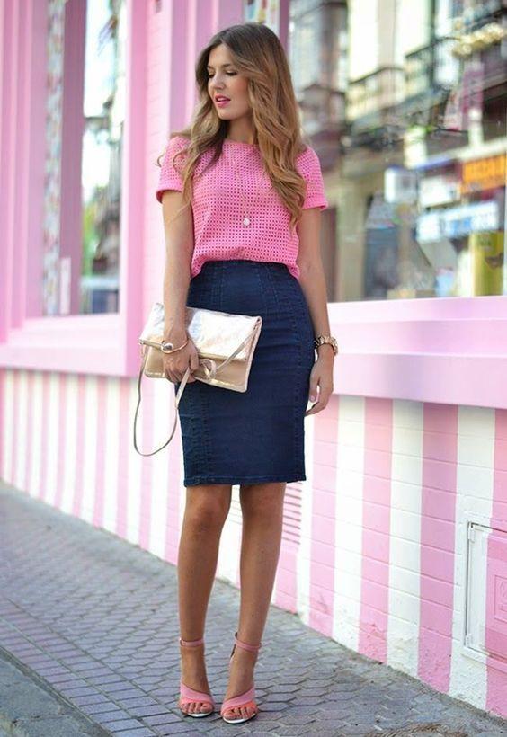 rosa-top-e-azul-lápis-saia via