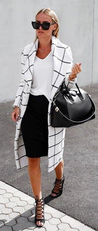 preto-e-branco-roupa-com-xadrez-blazer via