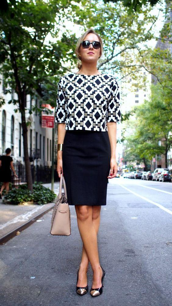 elegante-trabalho-roupa-with-black-saia via