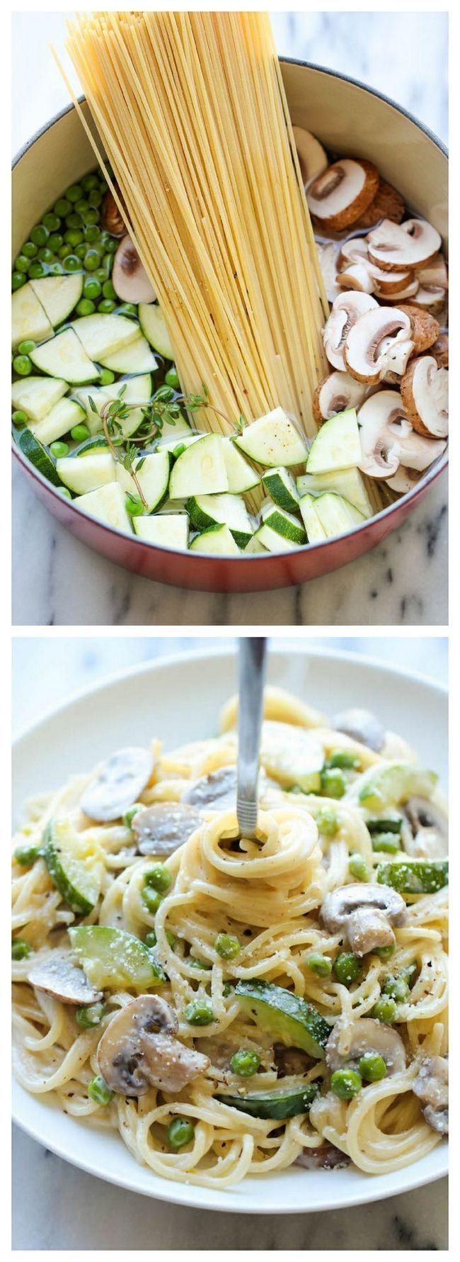 Um Pot Zucchini Mushroom Pasta