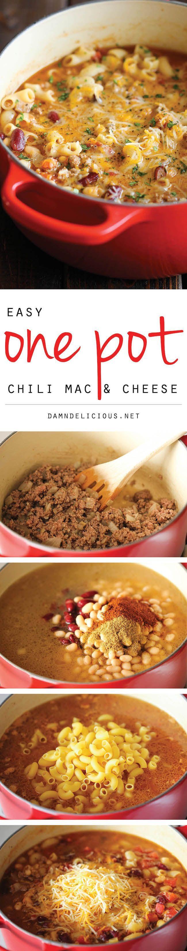 Um pote de pimentão Mac Cheese