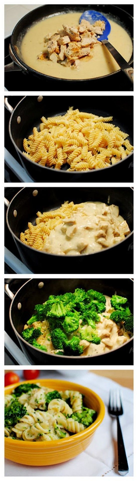 Skinny dos bróculos da galinha Alfredo