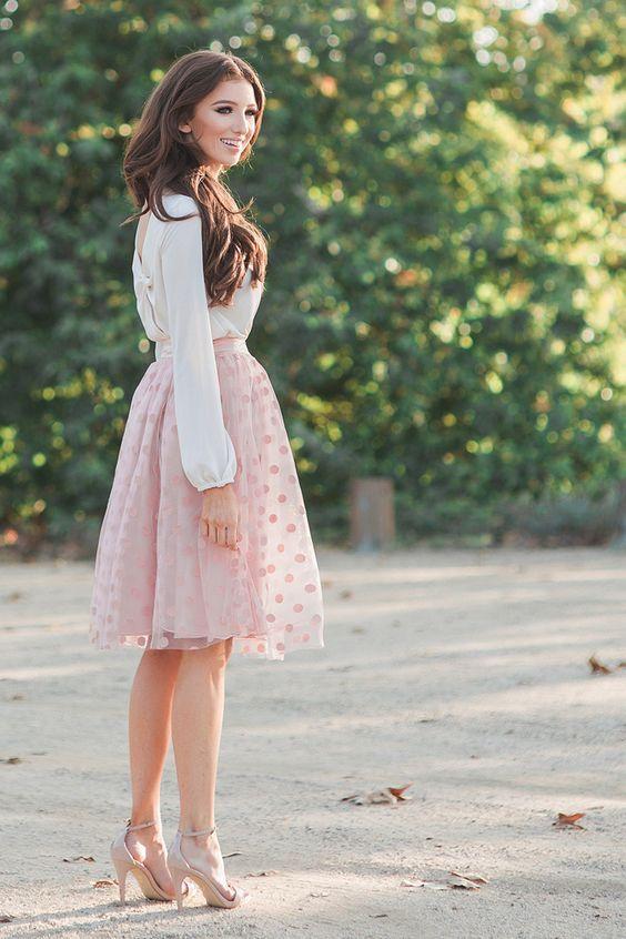 Rosa Polka Dot Skirt