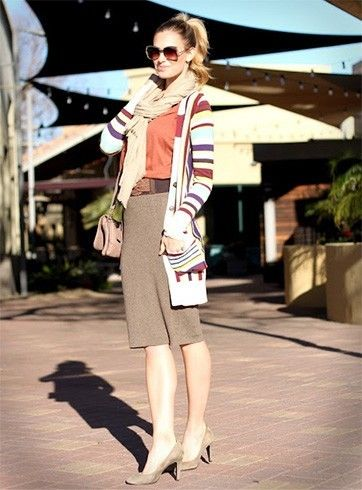 Usar um longo casaco de lã