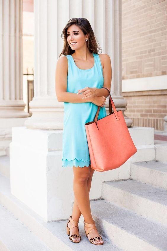 Azul pálido vestido via