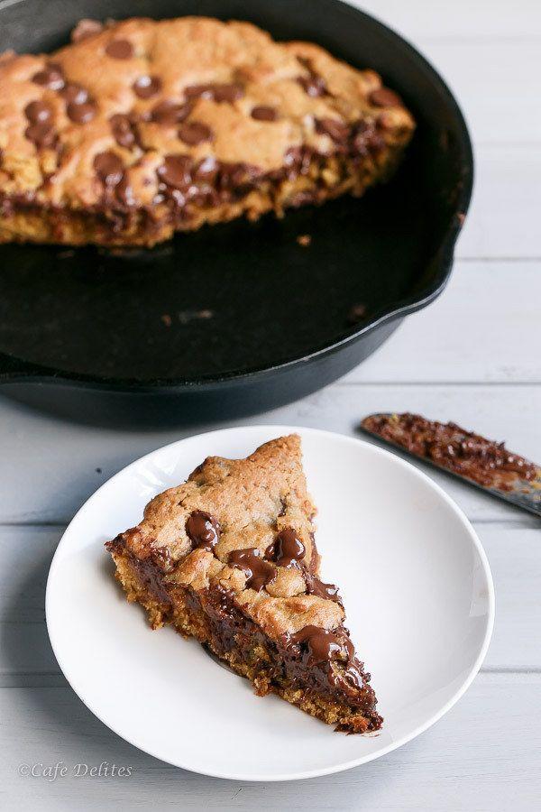 recheados com Nutella Deep Dish Biscoito Skillet