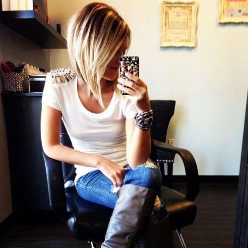 21 Chic penteados médio bob para as mulheres - cortes de cabelo mob