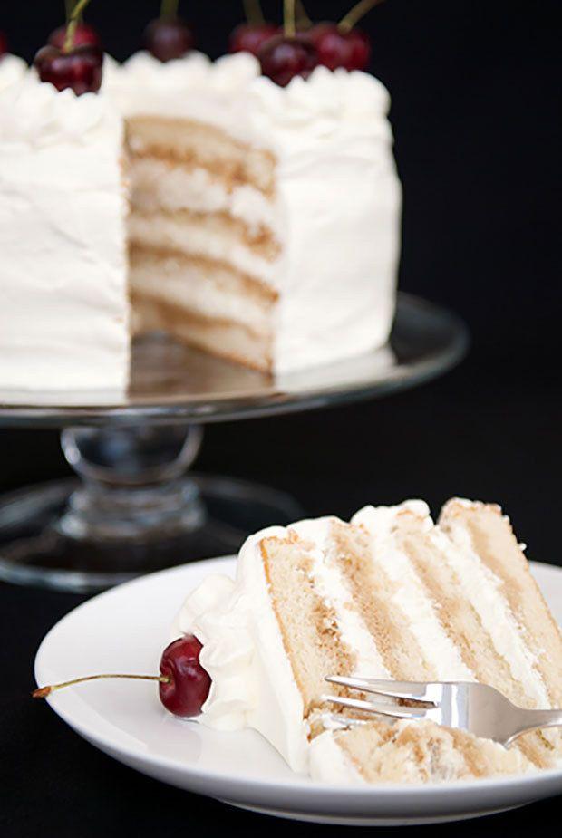 Branca Receita do bolo russo