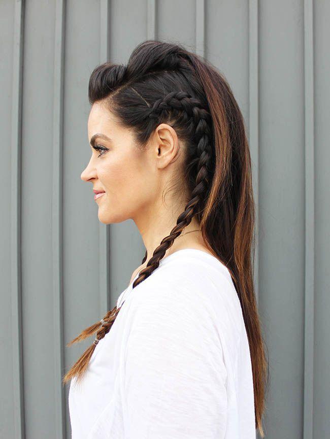 Crista de Galo penteado para cabelos longos