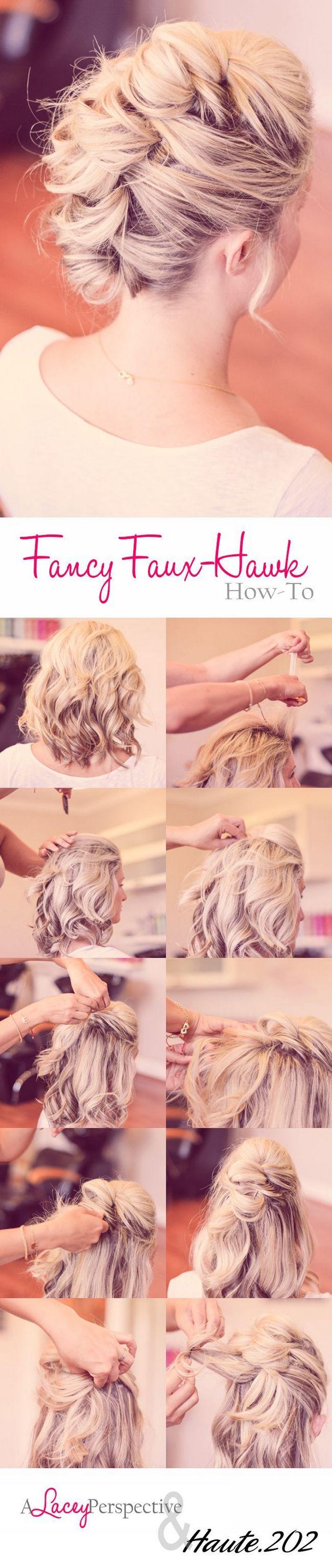 Crista de Galo penteado para cabelo médio