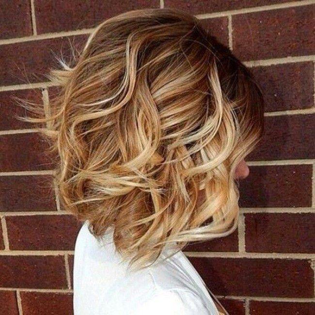 macio penteado ondulado bob curto para cabelos grossos