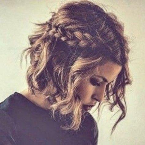 Fácil trançado penteado ondulado bob