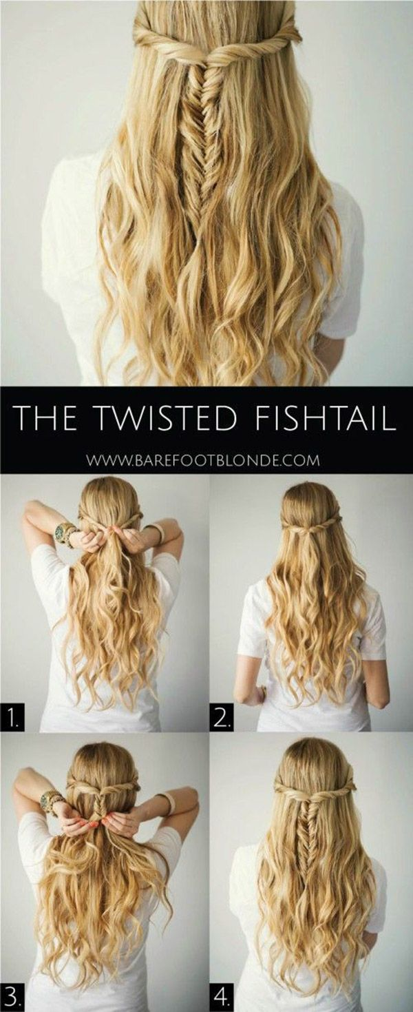 Torcido Fishtail Penteado Tutorial