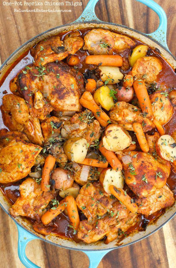 One-Pot Paprika coxas de frango