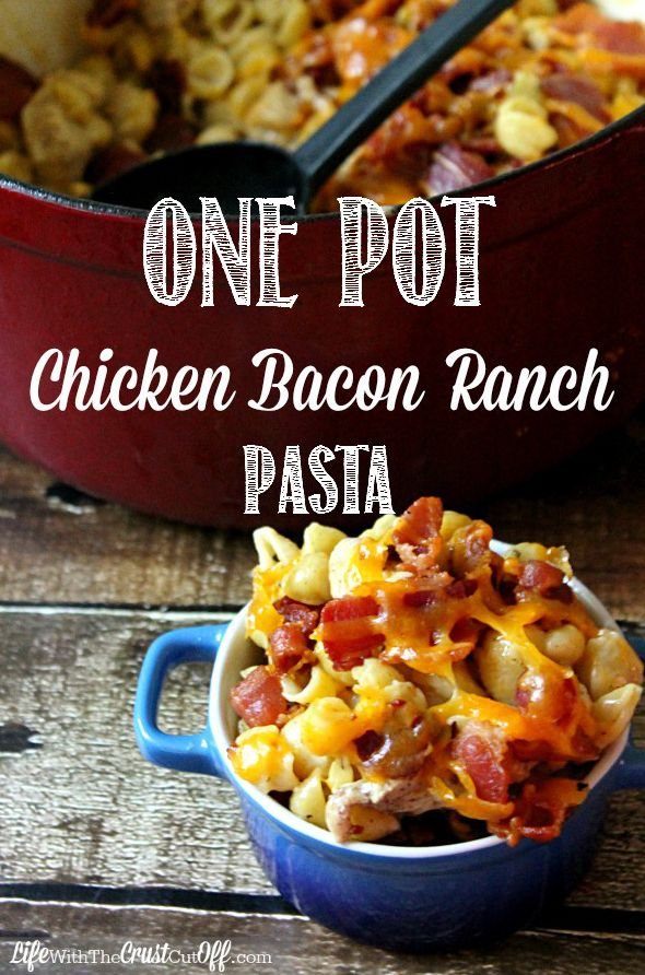 One-Pot frango Bacon Ranch Pasta