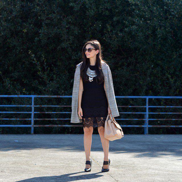 Trench Coat manta e vestido preto