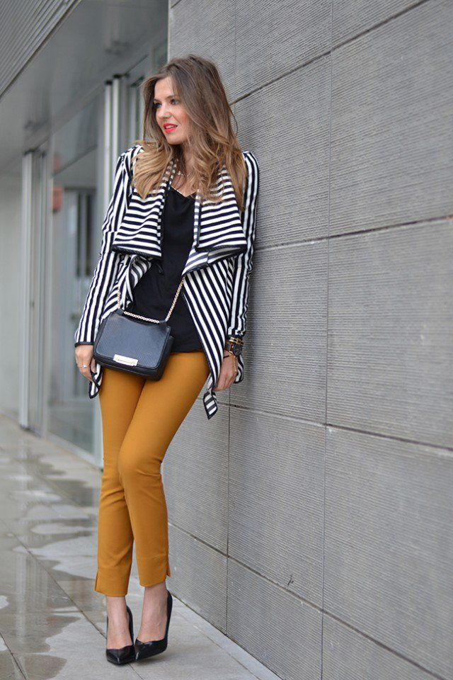 Revestimento com Skinny Jeans Listrado