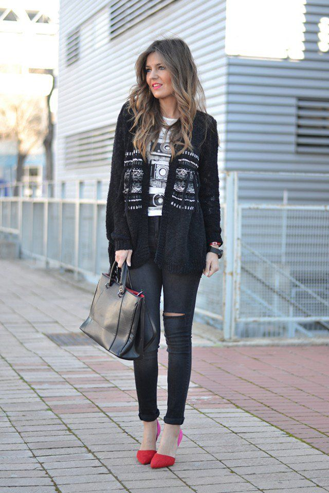 Black and White Street Style Outfit