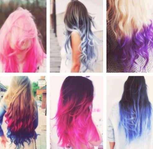 Idéias diferentes Ombre Cor de cabelo para meninas