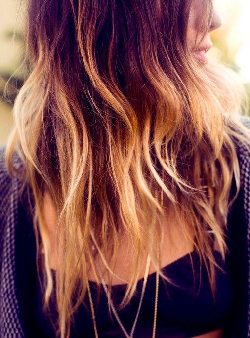 Blond Ombre Cor de cabelo para o cabelo longo
