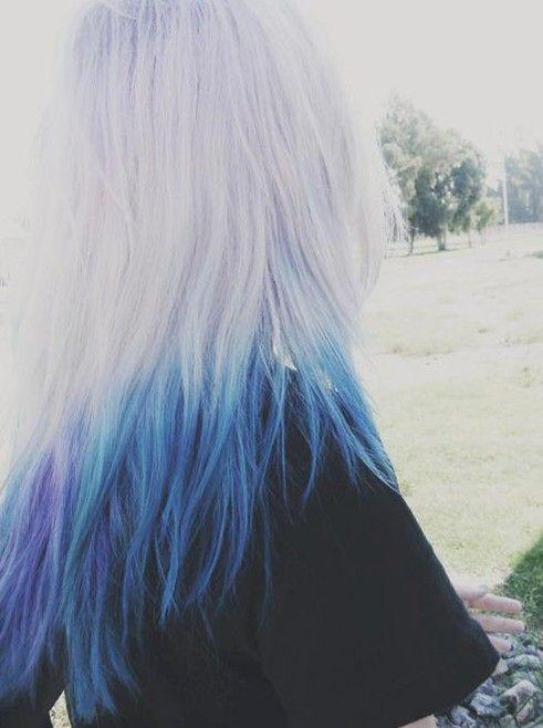 Idea azul Ombre Cor de cabelo