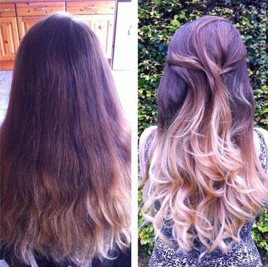 Fácil Ondulado Longo Penteado para o cabelo Ombre