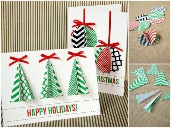 Fácil Cartões de Natal Handmade