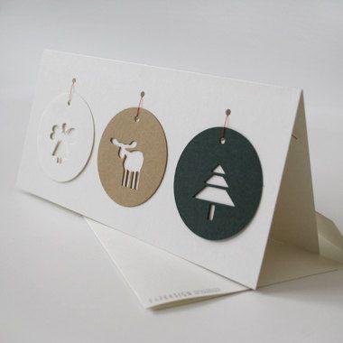 Tag cartões de Natal