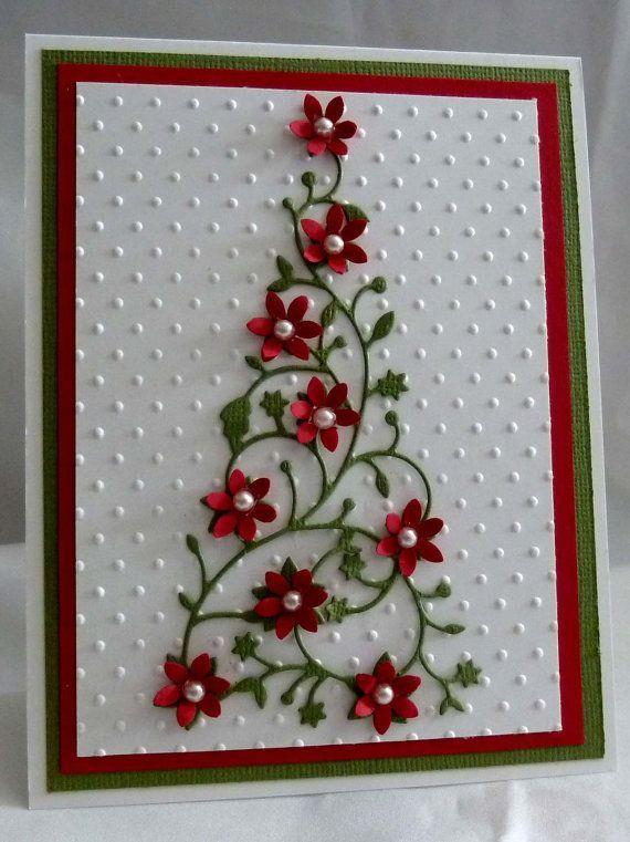 Cartões de Natal com flores