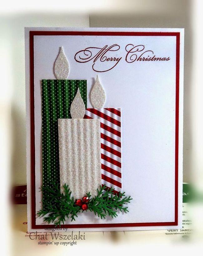 Cartão de Natal da vela