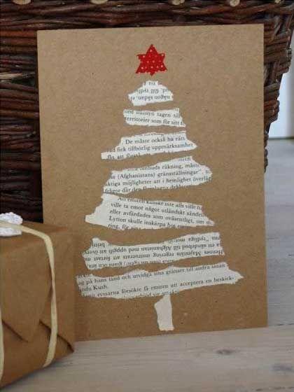Árvore de Natal de livros velhos