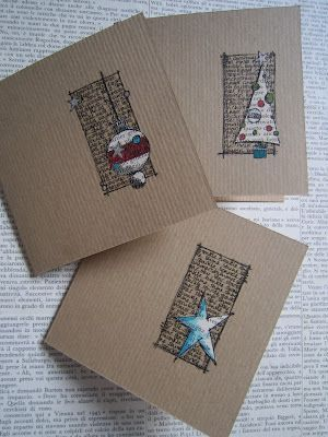 Simples Cartões de Natal caseiro