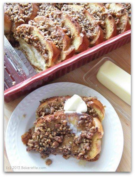 Baked French Toast Caçarola com Bombons