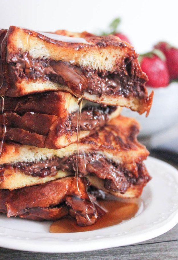 Nutella Bacon rabanada recheada