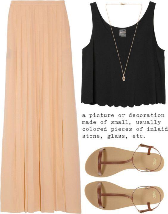 Bonito Verão saia Outfit