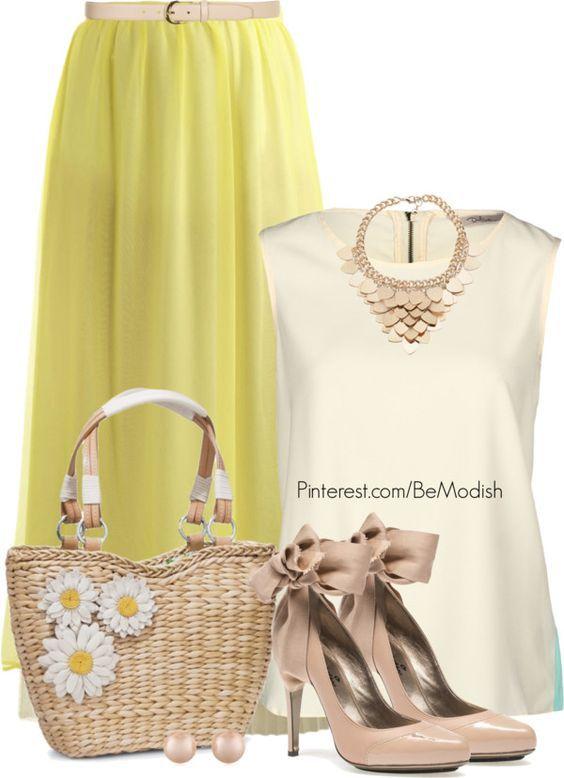 Saia amarela Outfit