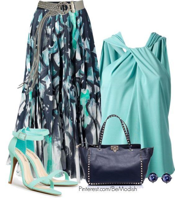 Oceano Outfit tom azul