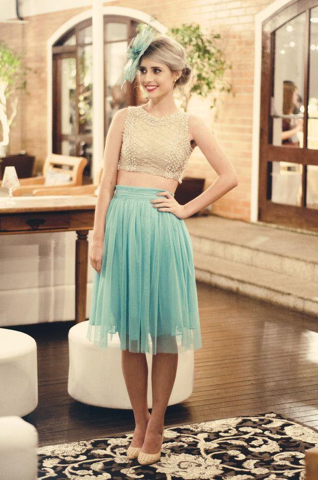 Peal saia de Midi Outfit