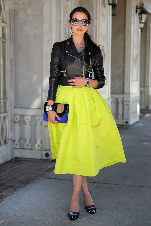Luminous Midi saia amarela Outfit