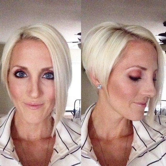 Curto angular Bob corte de cabelo para mulheres com mais de 50