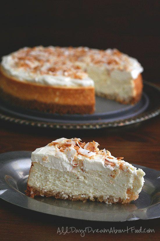 Coconut Cheesecake Com um Macadâmia Crust