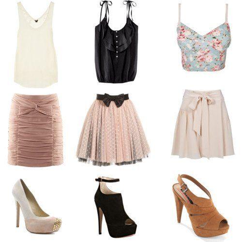 Bonitas ideias saia roupa para verão