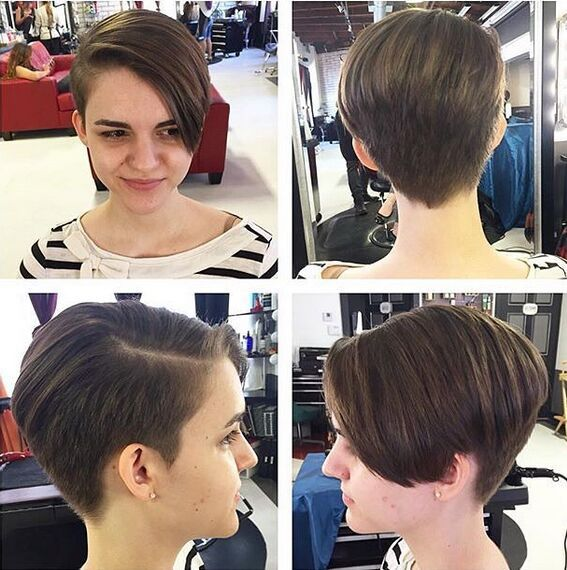 Longo Pixie corte de cabelo para meninas