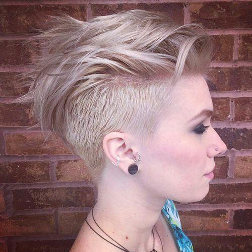 Penteado de rebaixo curto para Blond HairShort Penteado de rebaixo para Cabelo Louro