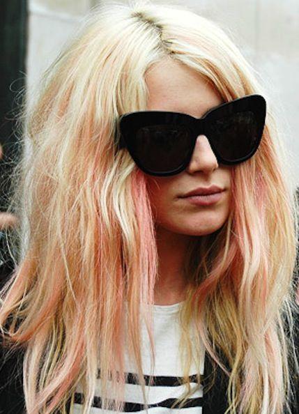 Penteado fim de semana - O cabelo cor destacada