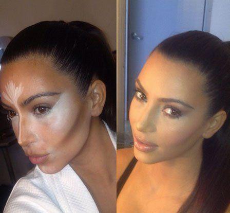 5 Melhor maquiagem contorno olha de kim kardashian