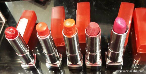 Swatches 5 maybelline rebelde bouquet `batons